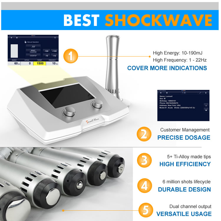 shock wave therapy equipment BS-SWT2X handpiece